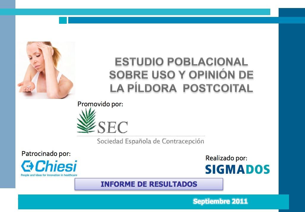 Estudio poblacional sobre uso y opinión de la píldora postcoital en Andalucía
